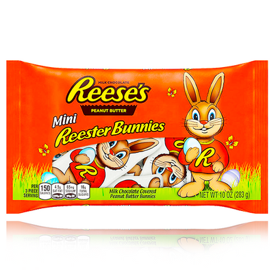 REESE'S PEANUT BUTTER MINI REESTER BUNNIES BAG 283g