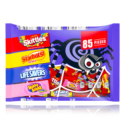 SKITTLES, STARBURST, LIFE SAVERS, HUBBA BUBBA MAX CANDY VARIETY 85 PIECES