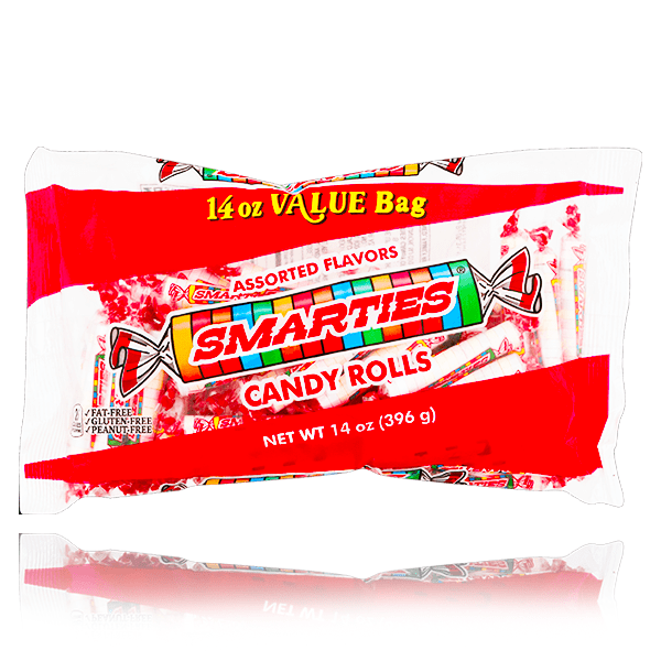 SMARTIES ORIGINAL CANDY ROLLS LARGE BAG 396G