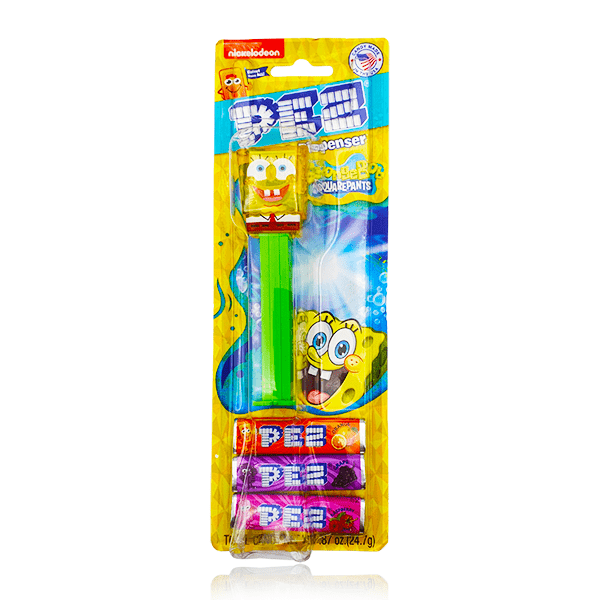 SPONGEBOB SQUARE PANTS PEZ CANDY TOY 24G