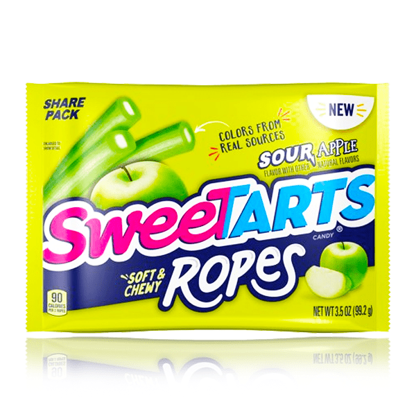 SWEETTARTS SOUR APPLE ROPES SHARE SIZE 99g