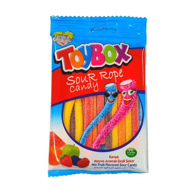 TOYBOX SOUR ROPE CANDY 80g