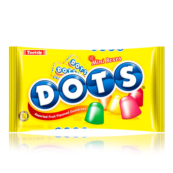 TOOTSIE DOTS MINI BOXES GUM DROPS BAG 127G