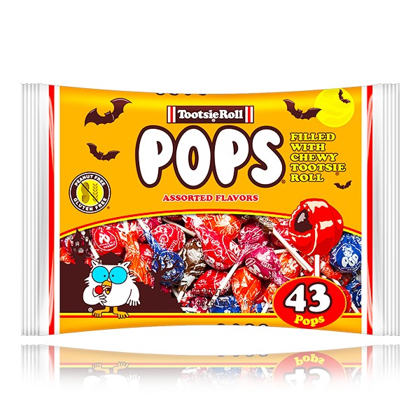 TOOTSIE ROLL POPS ASSORTED FLAVOURS 43 PIECES 765G