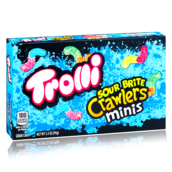 TROLLI SOUR BRITE CRAWLERS MINI THEATRE BOX 99G