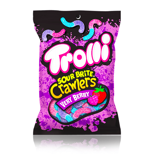 TROLLI SOUR BRITE CRAWLERS VERY BERRY 113G