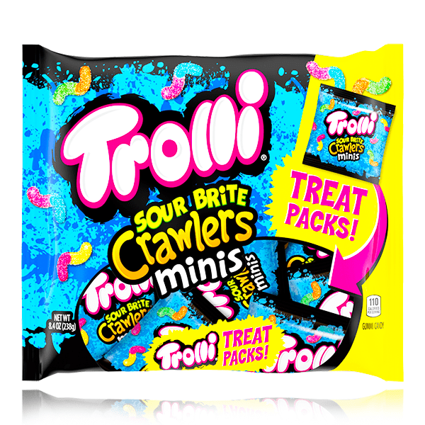 TROLLI SOUR BRITE CRAWLERS MINIS BAG 238G