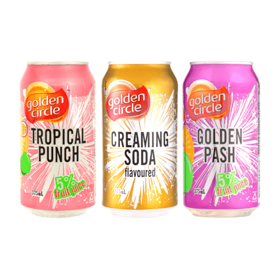 GOLDEN CIRCLE CANS ASSORTED FLAVOURS