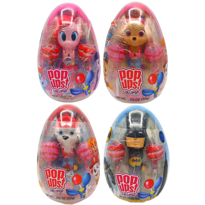 POPUPS LOLLIPOP EGGS ASSORTED RANGE & FLAVOURS