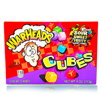 WARHEADS SOUR CUBES THEATRE BOX 113g