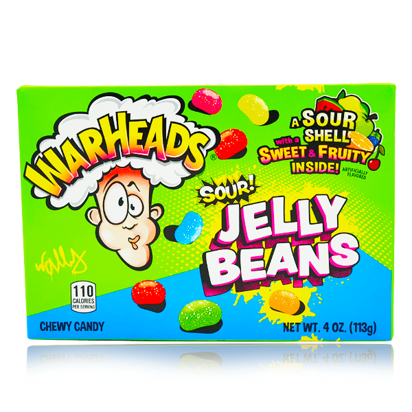 WARHEADS SOUR JELLY BEANS THEATRE BOX