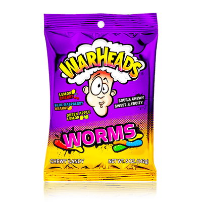 WARHEADS WORMS 142G PEG BAG