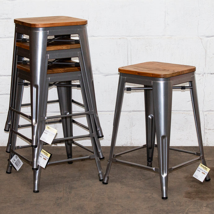 Umbria Bar Stool - Silver