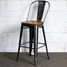 3PC Laus Table & Soranzo Bar Stool Set - Steel