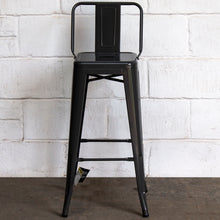 3PC Lodi Table & Naples Bar Stool Set - Graphite Grey