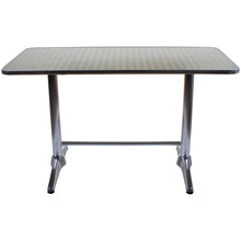 Montego Rectangular Chrome Table