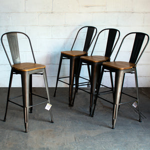 Soranzo Bar Stool - Gun Metal Grey