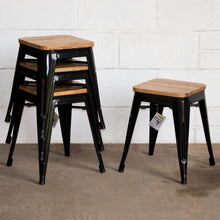 7PC Taranto Table, 5 Rho Stools & Nuoro Bench Set - Black