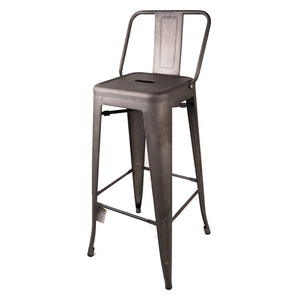 Naples Bar Stool - Gun Metal Vintage