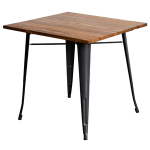 5PC Enna Table & Rho Stool Set - Graphite Grey