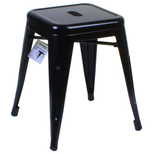 7PC Taranto Table & 6 Castel Stools Set - Black