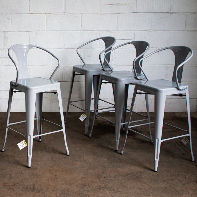 Favara Bar Stool - Pale Grey