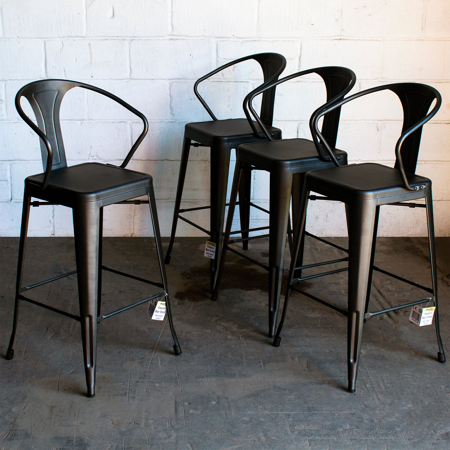 Favara Bar Stool - Onyx Matt Black