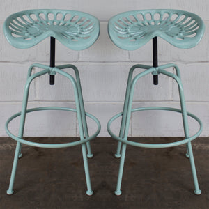 Arezzo Tractor Bar Stools - Blue