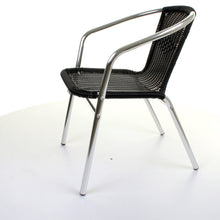 Black Wicker Chrome Bistro Chair