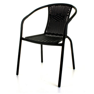 Black Wicker Bistro Chair