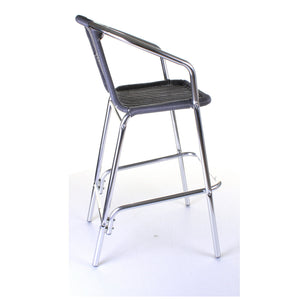 Kingstown Grey Wicker Bar Stool