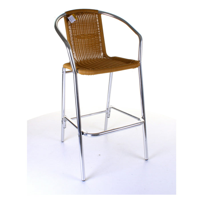 Kingstown Tan Rattan Bar Stool