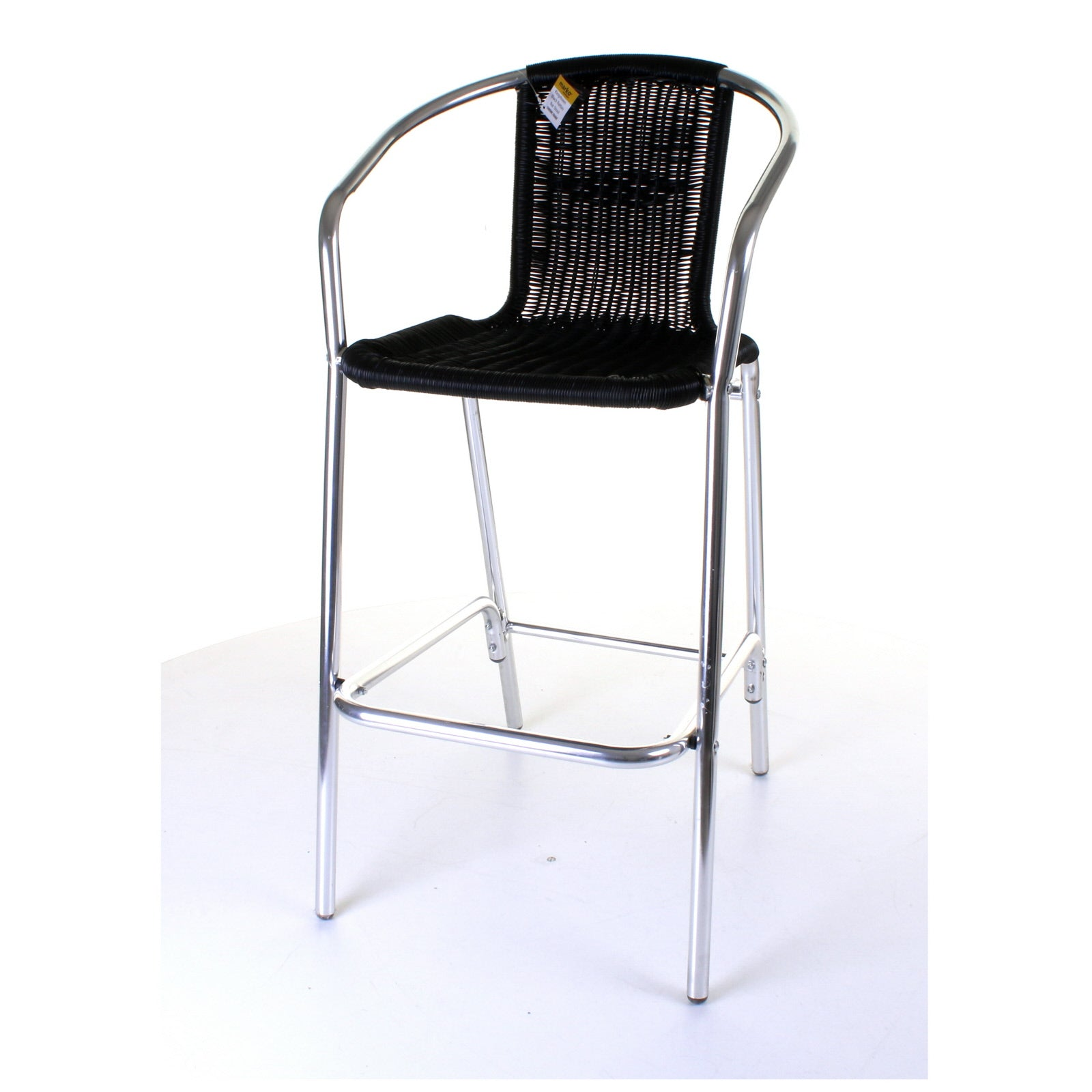 Picture of: Kingstown Black Rattan Bar Stool