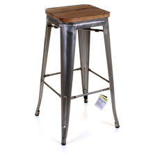 3PC Laus Table & Firenze Bar Stool Set - Steel
