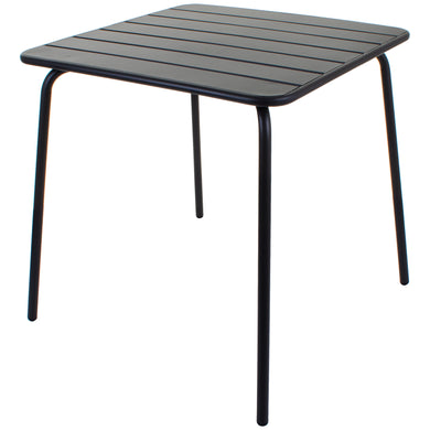 Slatted Bistro Square Table - Sand Grey