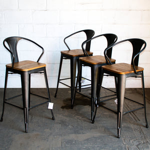Licata Bar Stool - Onyx Matt Black