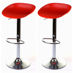 Potenza Bar Stool - Red - Set of 2