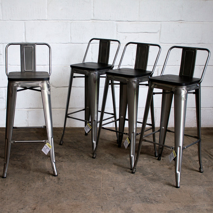 Milan Bar Stool - Steel