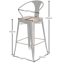 Licata Bar Stool - Gun Metal
