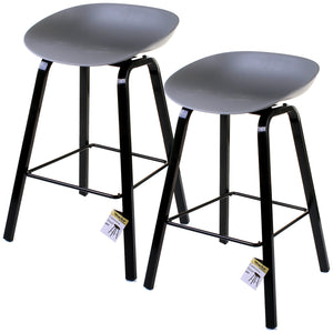 Cremona Bar Stool - Grey - Set of 2