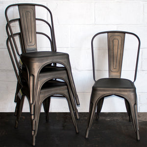 9PC Taranto Table & 8 Siena Chairs Set - Gun Metal Grey