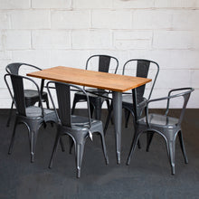 7PC Prato Table, 2 Forli & 4 Siena Chairs Set - Graphite Grey