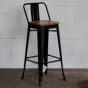 3PC Lodi Table & Tuscany Bar Stool Set - Black