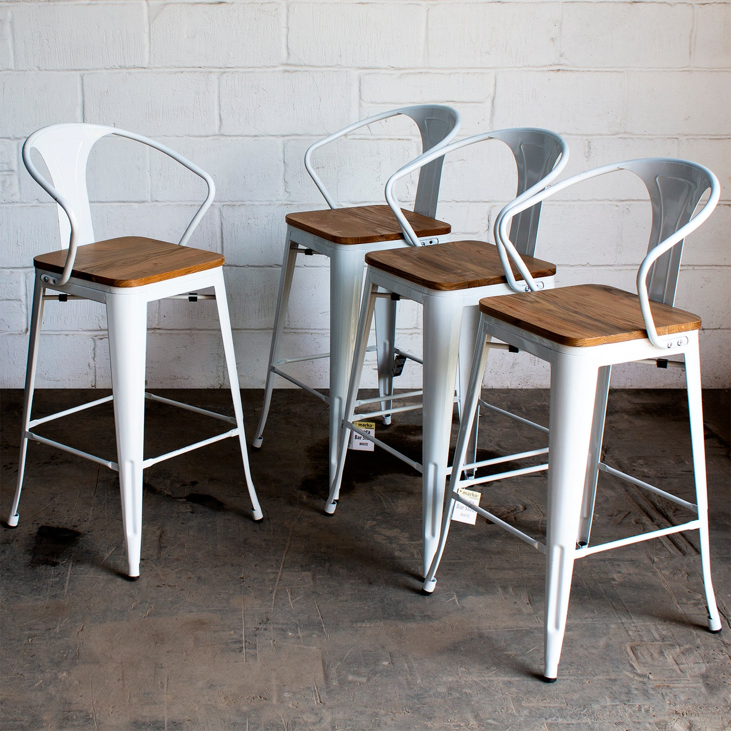 Licata Bar Stool - White