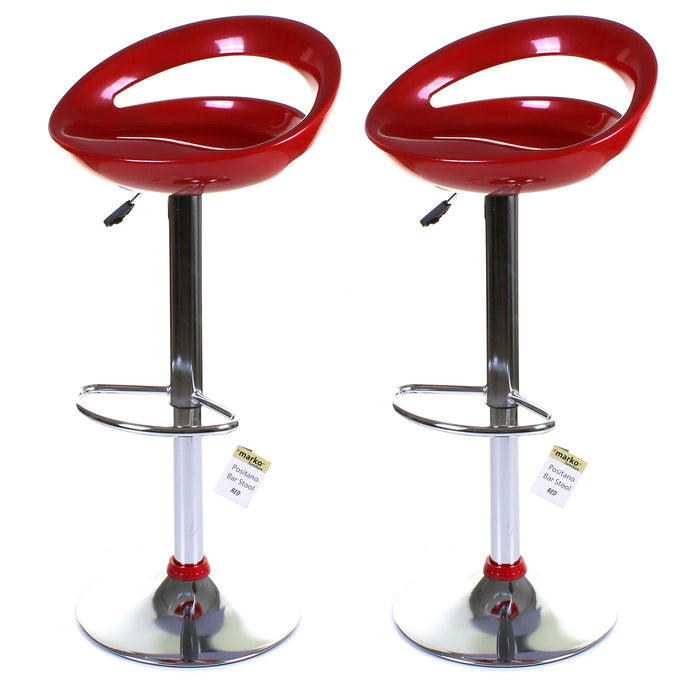 Positano Stool - Red - Set of 2