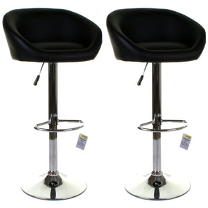 Asti Bar Stool - Black - Set of 2