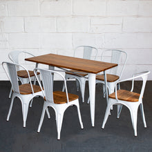 7PC Prato Table, 2 Florence & 4 Palermo Chairs Set - White