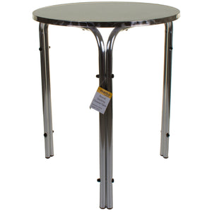Round Stacking Chrome Bistro Table