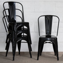 9PC Taranto Table & 8 Siena Chairs Set - Black