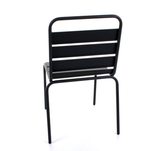 Slatted Bistro Chair - Sand Grey